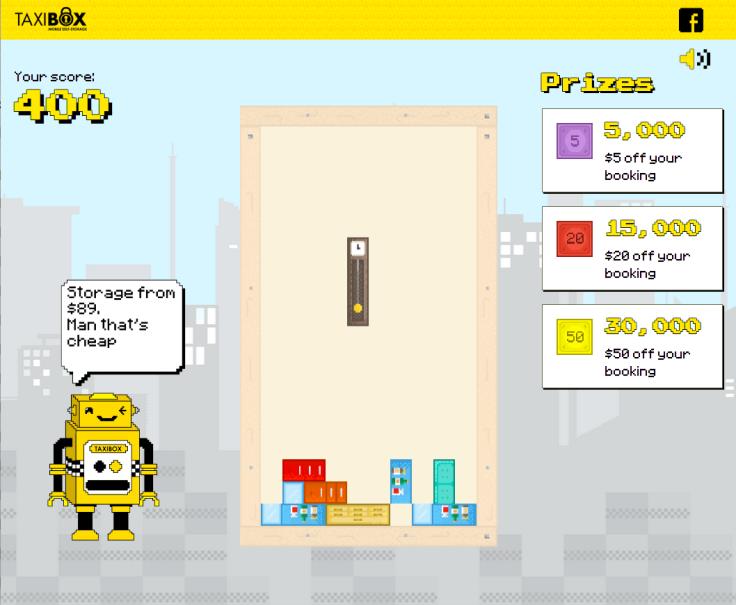 Taxiblox - Game Screen